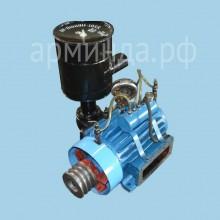 Компрессор ВР-8/2.5 с системой смазки, шкивом, защитой, воздушный фильтр