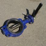 Затвор дисковый поворотный   для цементовоза Ду-100