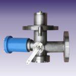 Клапан донный скоростной, угловой, с электромагнитной защелкой  СЕНС ДС-У-А Ду (Dn50 ) PN25